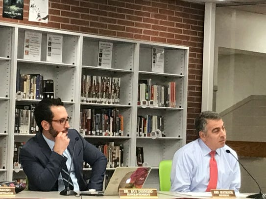 Verona Superintendent Rui Dionisio (left) and Board of Education President John Quattrocchi (right) are among administrators facing opposition in the wake of the Lou Racioppe investigation.