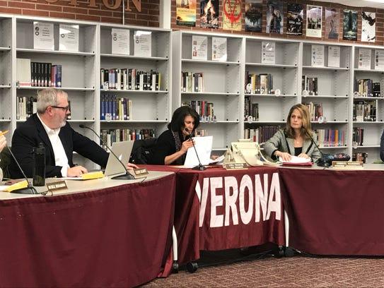 Lisa Freschi, center, resumes her role as Verona Board