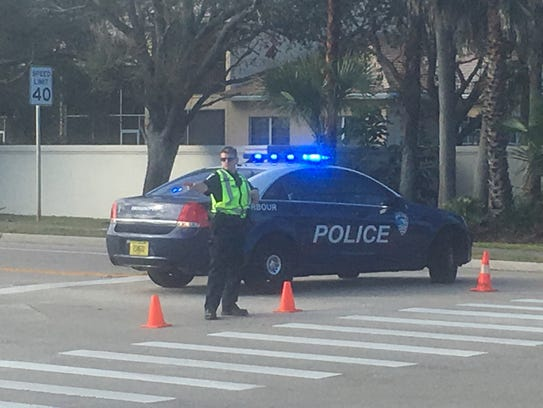 A gas leak closed South Patrick Drive between Desoto