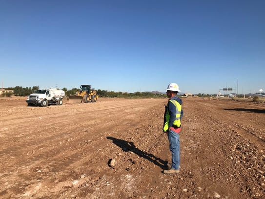 Rumco Construction Superintendent Troy Parks looks