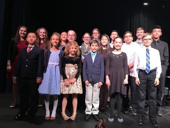 Winners of the Nov. 18 Michibago Music Teachers Association