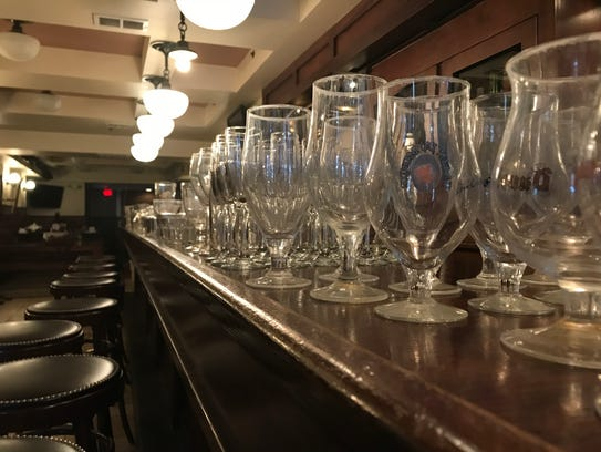 Belgian-style glassware from the former Victoire will