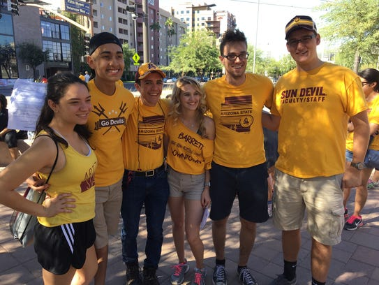 Sawyer with other members of ASU's Medallion Scholars