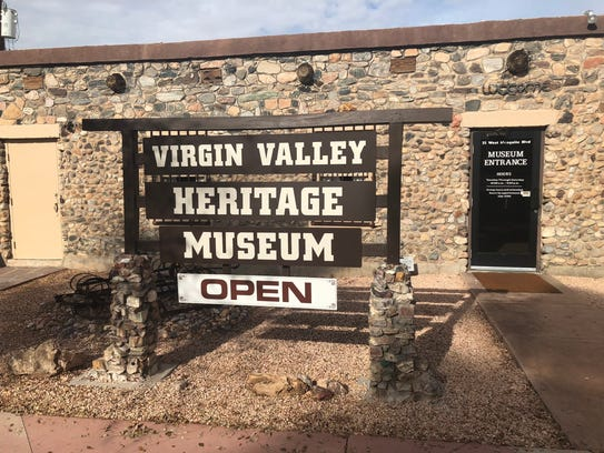 Front of the Virgin Valley Heritage Museum