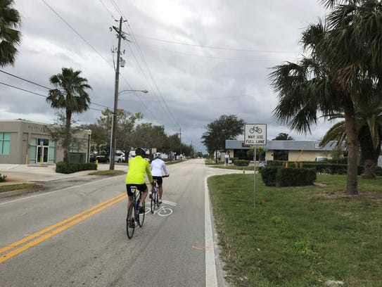 A pilot project in Vero Beach includes signs indicating