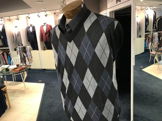 Argyle sweaters half off for $17.48 at Vittorio's in
