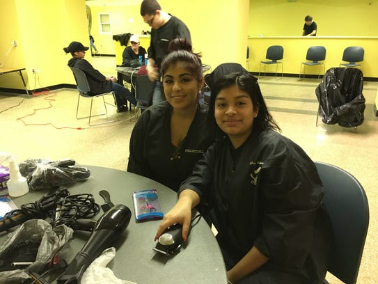 Jisel Merales and Dayanara Vargas, both of Perth Amboy,