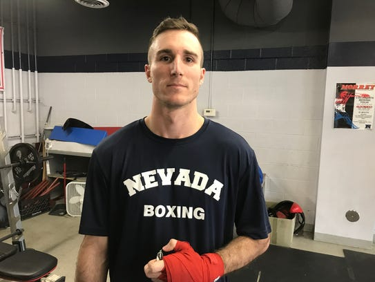 Dylan Raatz is a senior on the Nevada boxing club team.