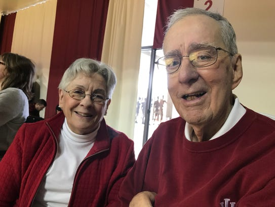 IU fans Mary Jane and Bob Compton.
