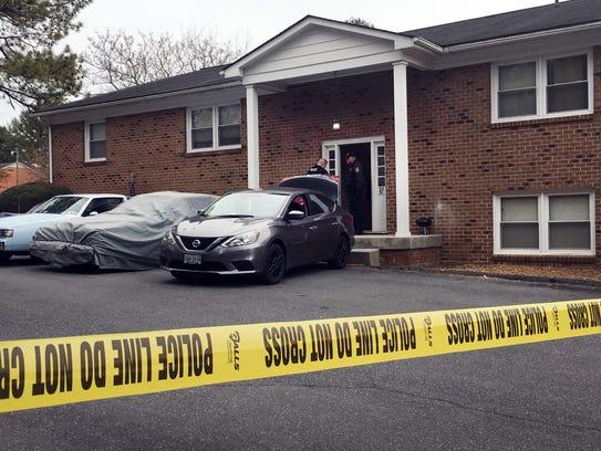 A crime scene off Bookerdale Road in Waynesboro on