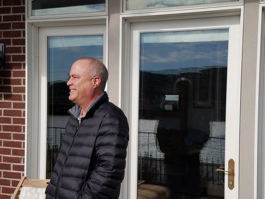 River Street resident Michael Aaronson standing outside