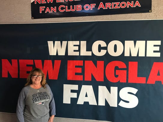 Julie Myett said she has been a patriots fan for 30