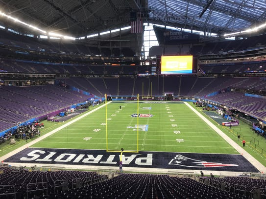 U.S. Bank Stadium prior to Sunday's Super Bowl.
