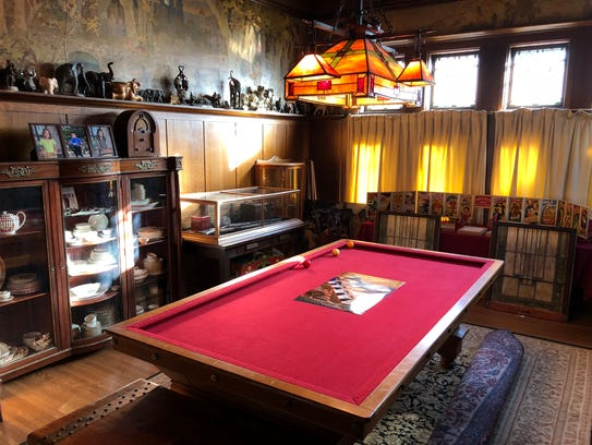 The billiards room in the Al. Ringling Mansion.