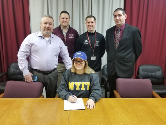 Clifton's Meaghan Mancini on National Signing Day.