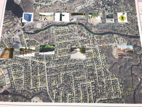 Plans for the new walking and biking trail along the