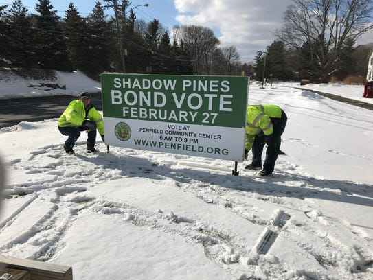 A bond vote for Shadow Pines in Penfield is being held