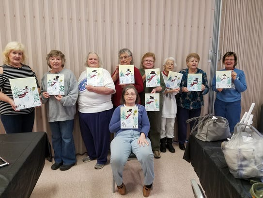 Sip and paint party was happening at the Yorktown Senior