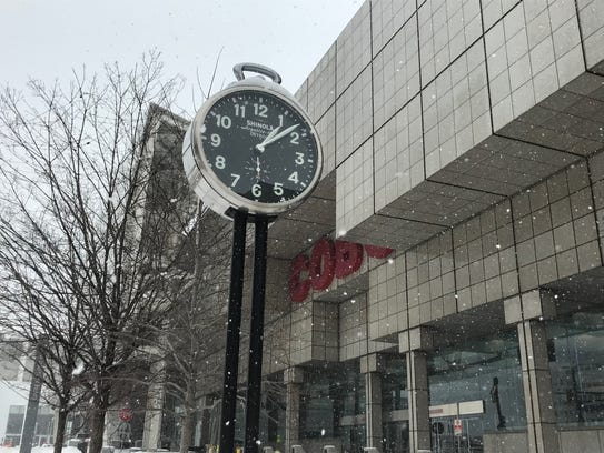 The Shinola city clock at Cobo was installed in 2014,