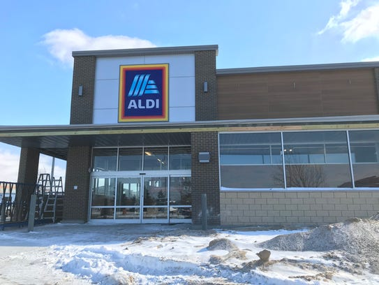 Aldi's new store rises on Kensington Drive in Appleton.