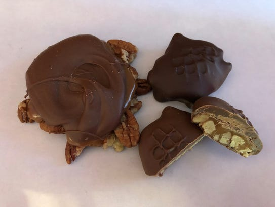 Pecan crabs are a customer favorite at Guth's Candy