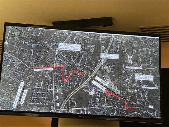 A map shows the proposed path for the eruv.