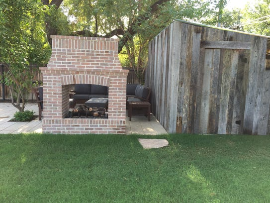 That shed, built with lumber from Porter Barn Wood,