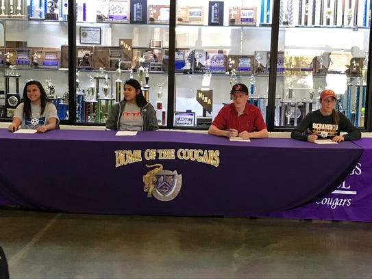 Spanish Springs had four athletes sign for college