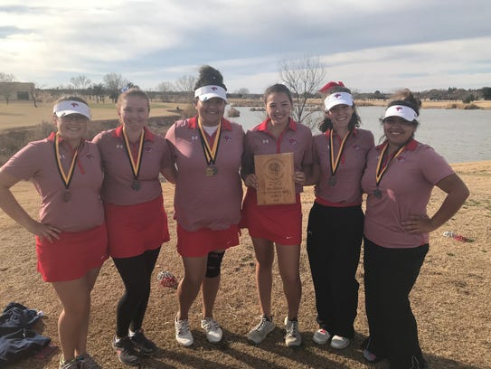 The Cooper girls golf team finished second at the Snyder