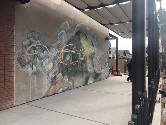 A mural on Roosevelt and Fifth streets was defaced