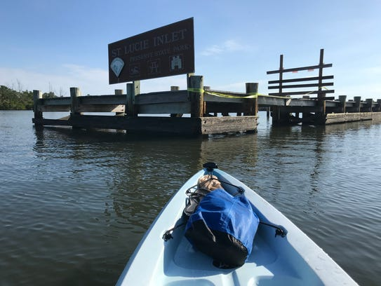 The only way to get to St. Lucie Inlet Preserve State