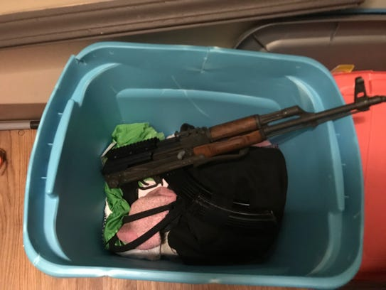 A weapon seized by authorities during the capture of