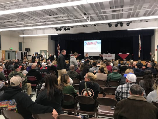 Parents filled the cafeteria at Balboa Middle School