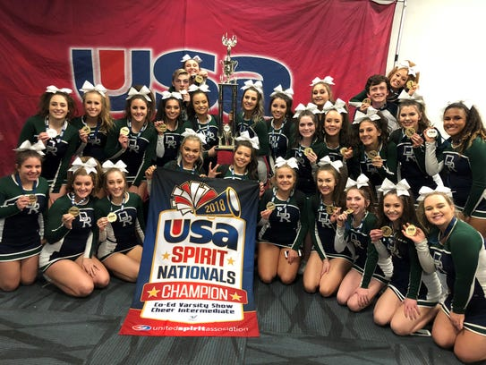 The Damonte Ranch cheerleading team won a national