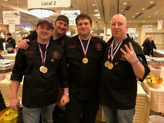 Paterson firefighters Jason Macones, Sean Duffy, Joe