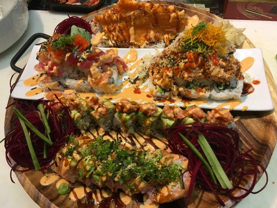 Just some of what's offered at Kenko Sushi in Lincoln