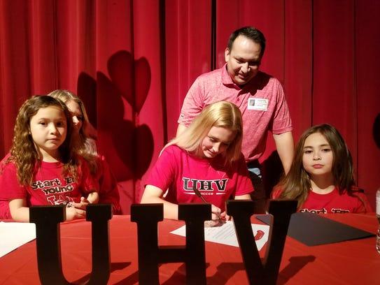 Wichita Falls High School senior Chloe Rodriguez signed to play soccer at University of Houston-Victoria on Wednesday.