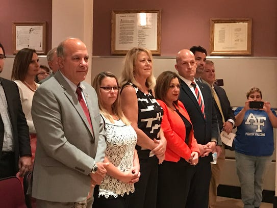 Port St. Lucie City Council watch presentation during