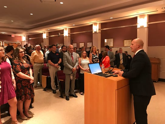 Port St. Lucie Mayor Greg Oravec delivers his State of the City address Feb. 26, 2018.