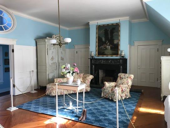 Sarah Hewitt's bedroom in Ringwood Manor is one of