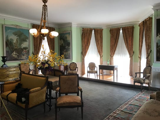 The furnishings in Ringwood Manor, as seen on Feb.