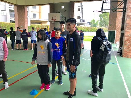 St. Paul Christian Warriors' basketball team participate