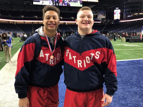 Livonia Franklin senior Manee Willee (left) and sophomore Jake Swirple each had a spot on the Ford Field podium Saturday.