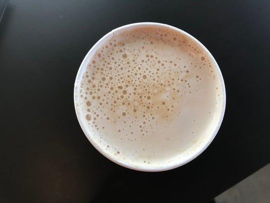 Beans & Brews' bourbon caramel latte