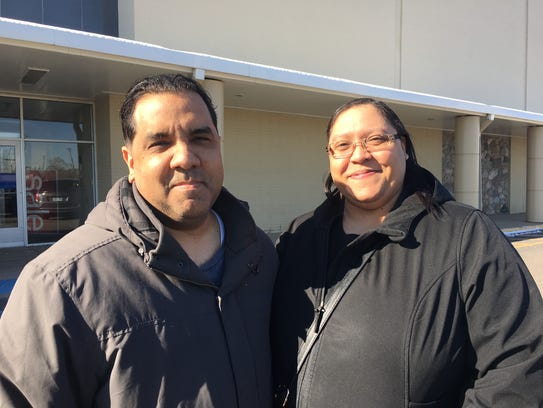 Jay and Deborah Benitez of Melvindale outside of the