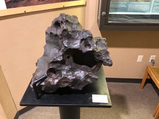 Visitors can touch this chunk of 4.56-billion-year-old