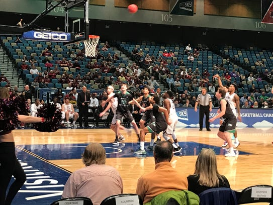 Top-seed Montana knocked out defending champion, 84-76,