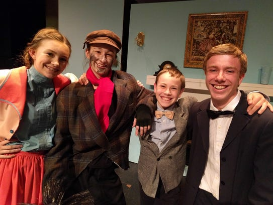 Fairiew actors in Mary Poppins Jr. at Renaissance Center