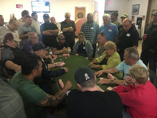 These players were at the final table at the VVA Chapter