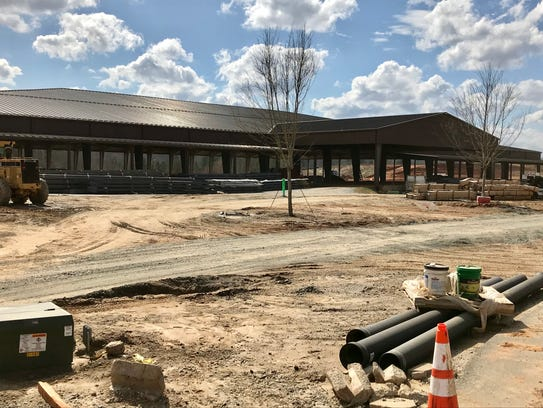 A new covered horse facility is among the new construction